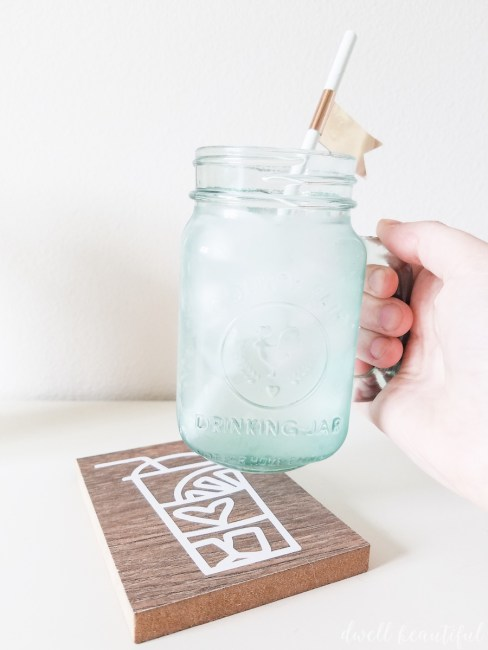 How to Turn a Floor Sample into a Cute Summer Coaster