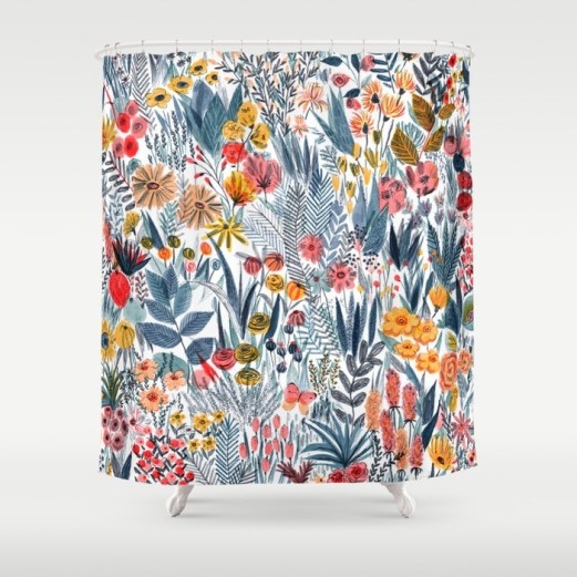flowers-qf5-shower-curtains