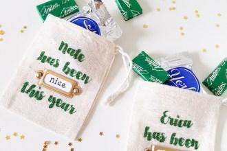 Naughty or Nice Christmas Treat Bags
