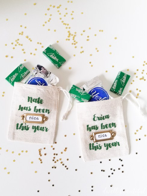 Naughty or Nice Christmas Treat Bags