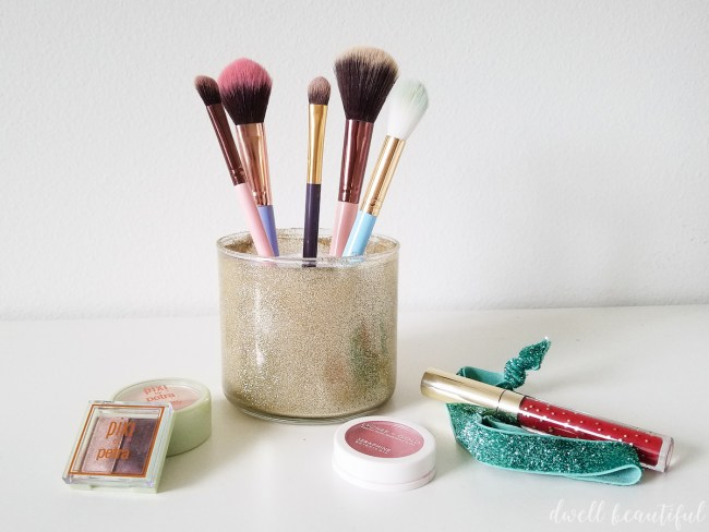 Candle Jar DIY Makeup Brush Holder