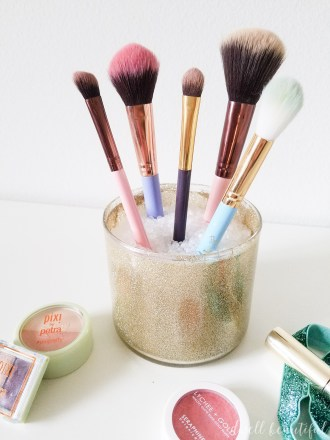 Candle Jar DIY Makeup Brush Holder