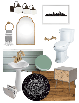 Modern Farmhouse Bathroom Style Board