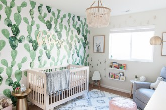 Cactus and Llama Baby Girl Nursery Reveal