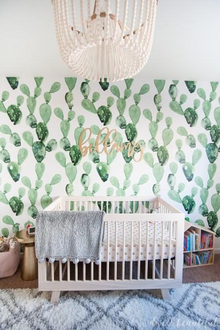 Cactus and Llama Baby Girl Nursery Reveal