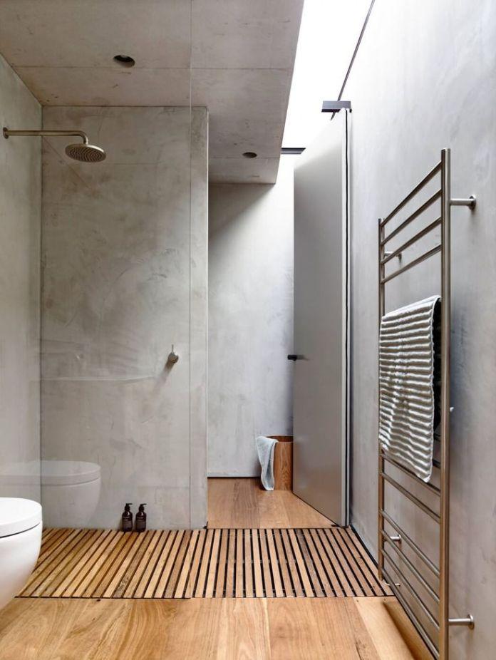 Walk through shower
