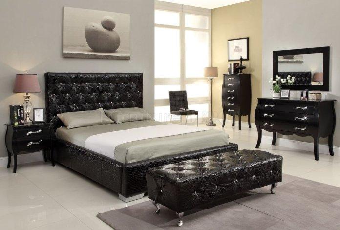 black-elegant-nightstand-modern-bed-set