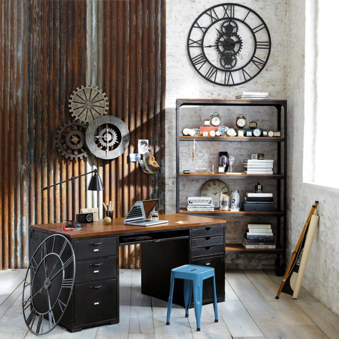 Colorful Industrial Home Office Design Ideas
