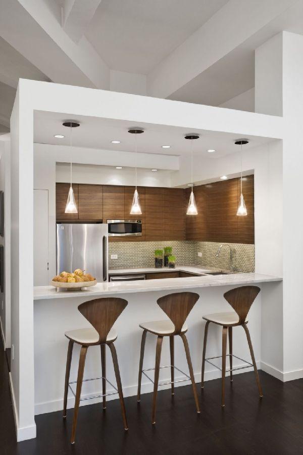 Fancy Chic Loft Style Apartment Kitchen Bars Redesign Ideas