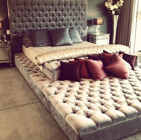 Gigantic upholstered platform bed