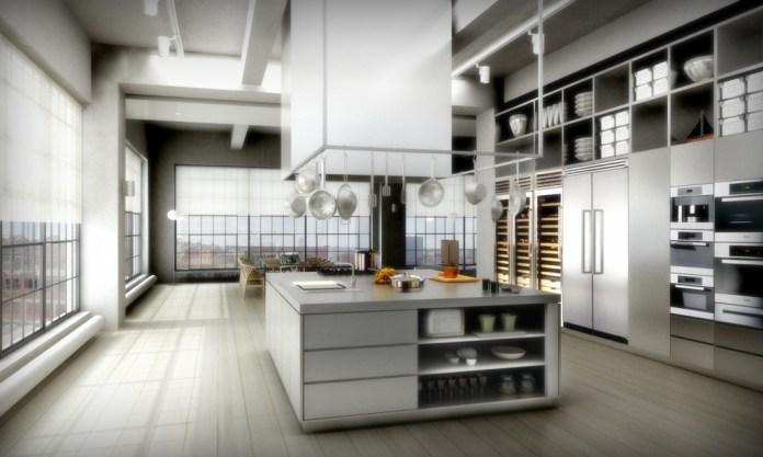 Loft Apartment Design Architecture Interior Elegant Loft Apartment Design In Grey Kitchen Island