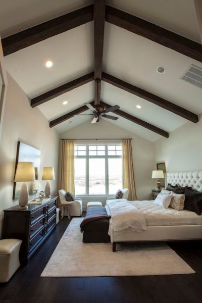 master bedroom ceiling design 25 Dark Wood Bedroom Furniture Decorating Ideas