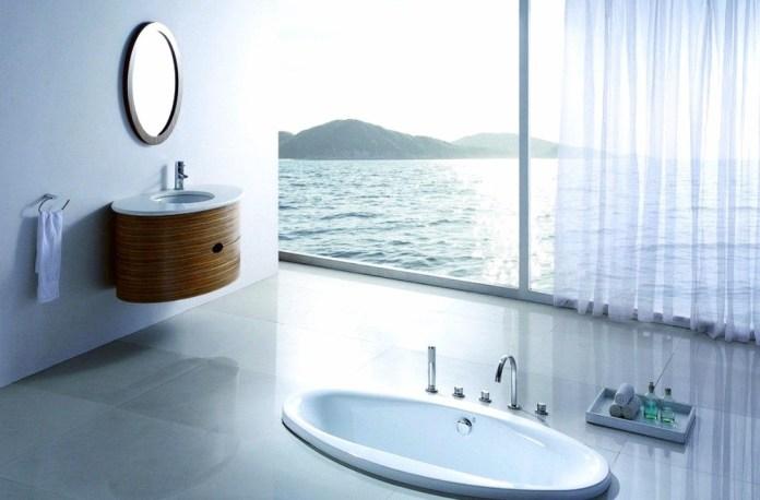 beach-bathroom-décor-minimalist-bathroom-with-beach-themed