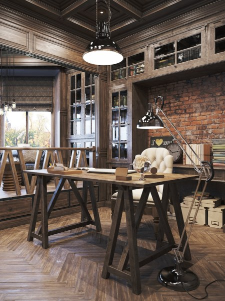 rustic home office design 21 Industrial Home Office Designs With Stylish Decor