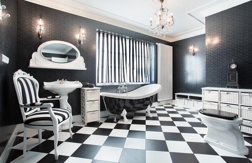 Checker Art Deco Style bathroom