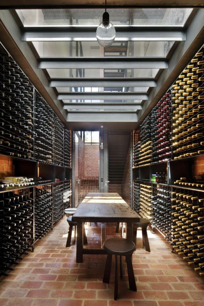 Glass Wine Cellar modern-staircase