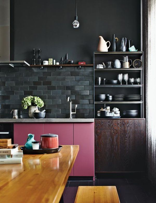 black-backsplash-kitchen-design