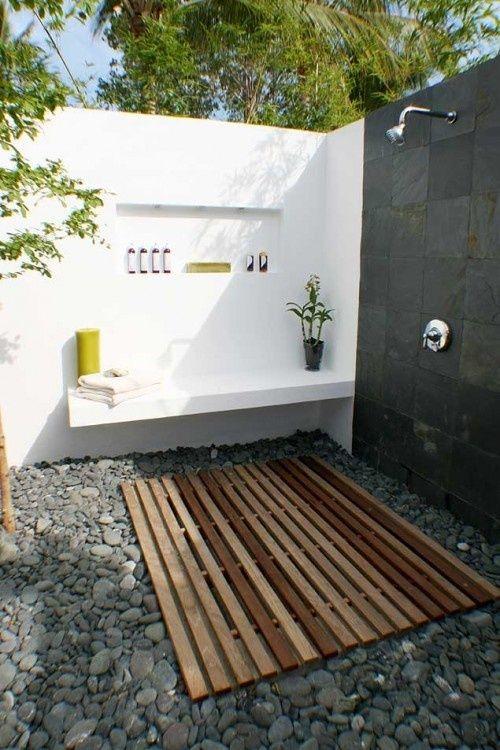 Concrete Outdoor shower