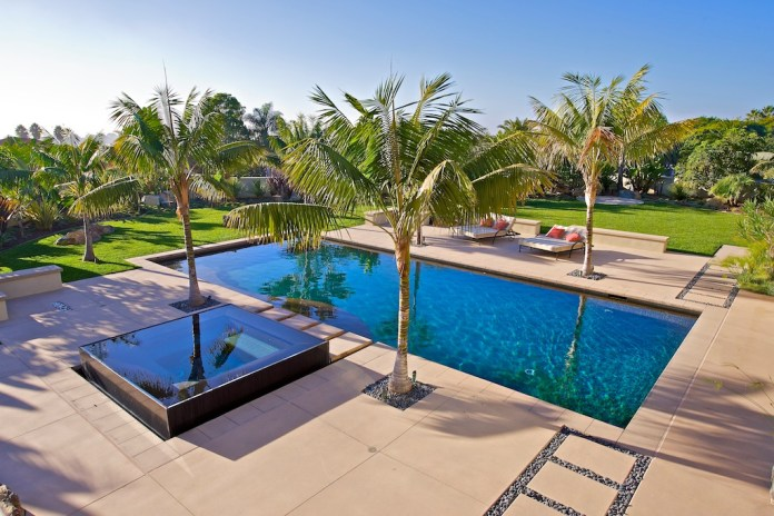 Contemporary Swimming Pool with Fence