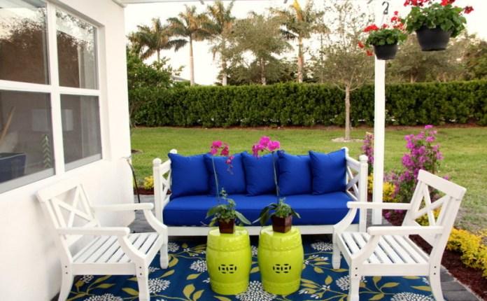 Eclectique beach style outdoor decor ideas