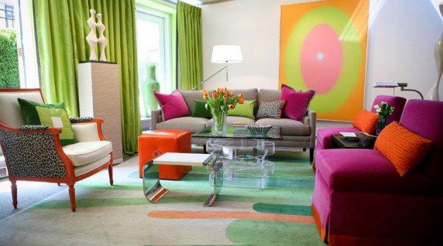 Gorgeous Colorful Living Room Design Ideas