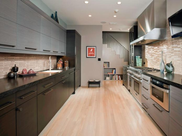 Gray Galley Kitchen