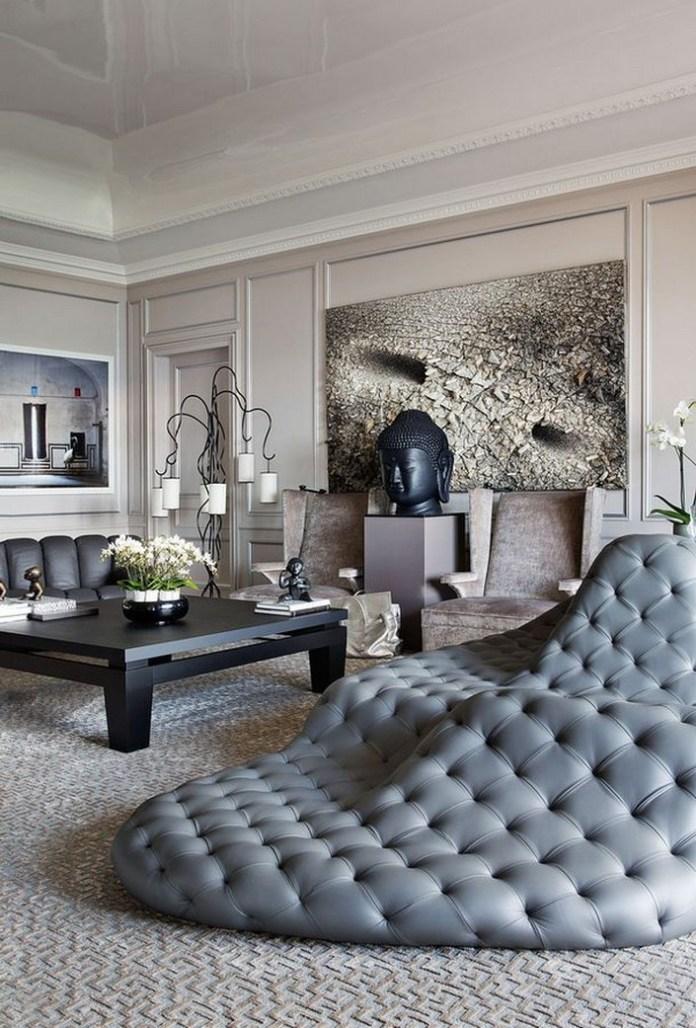 Modern zen inspired living room