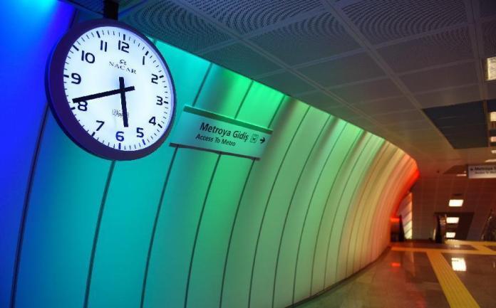 Turkey's Levent metro station
