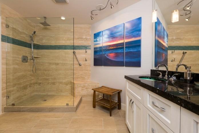 bathroom full of granite