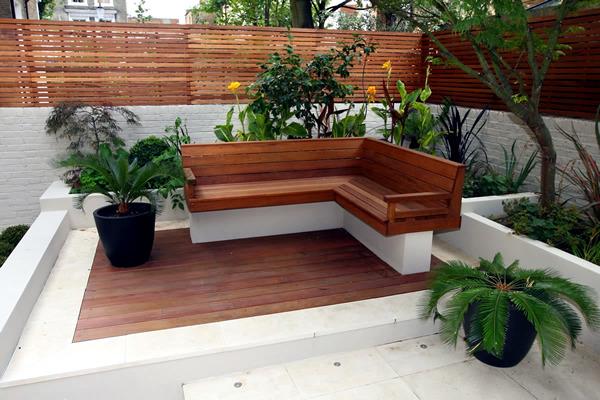 contemporary outdoor bench