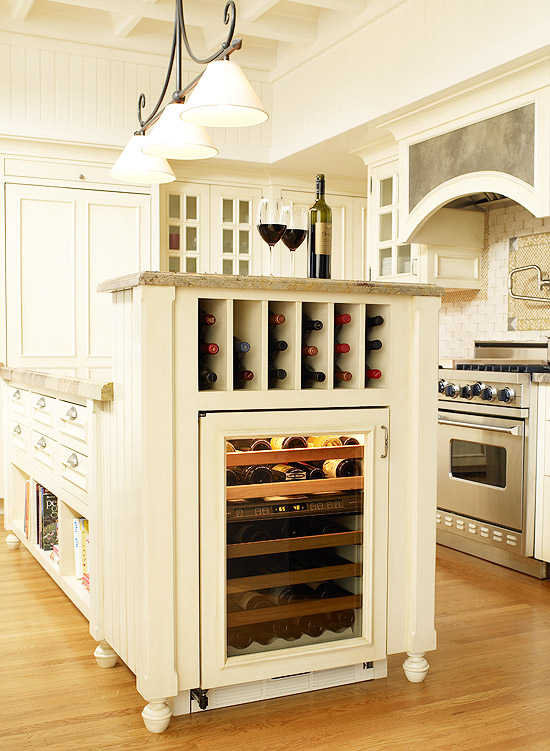 wine Kitchen Island Storage