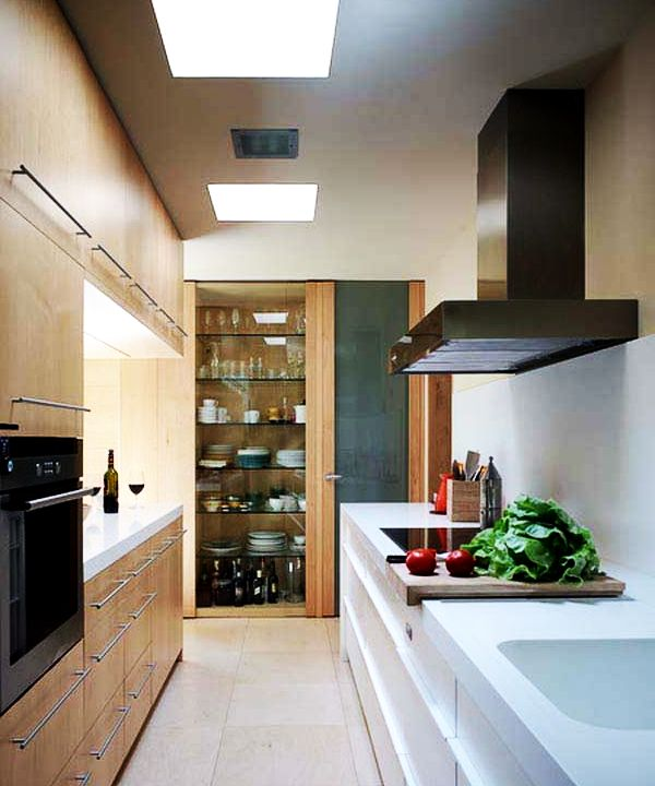 Contemporary Galley Kitchen Creative Wall Colors For Small Rooms Ideas