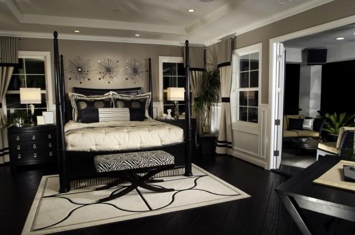 Elegant Black And White Bedroom