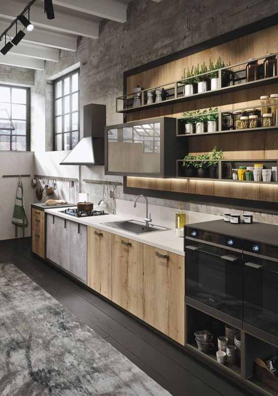 Industrial Contemporary Kitchen