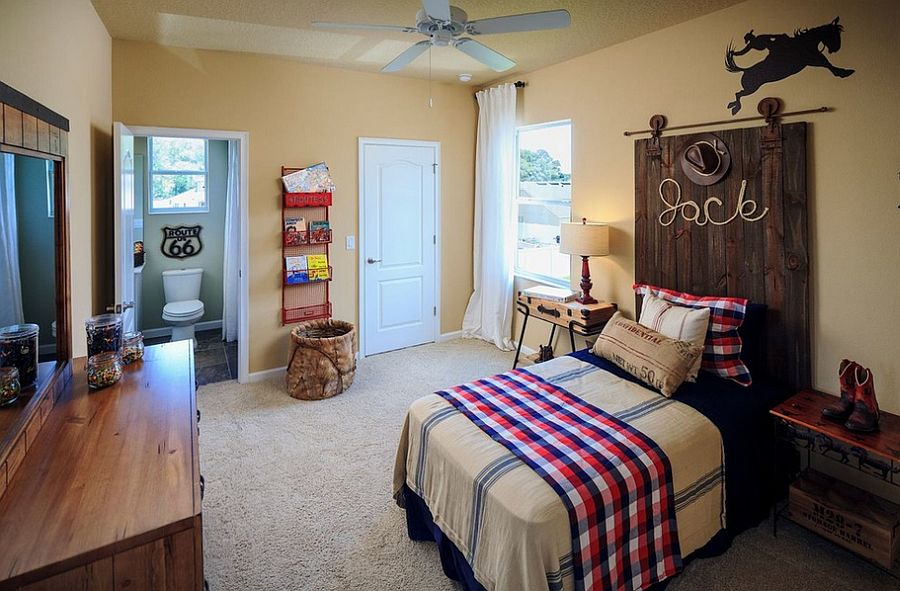 35 Awesome Rustic Style Kids Bedroom Design Ideas