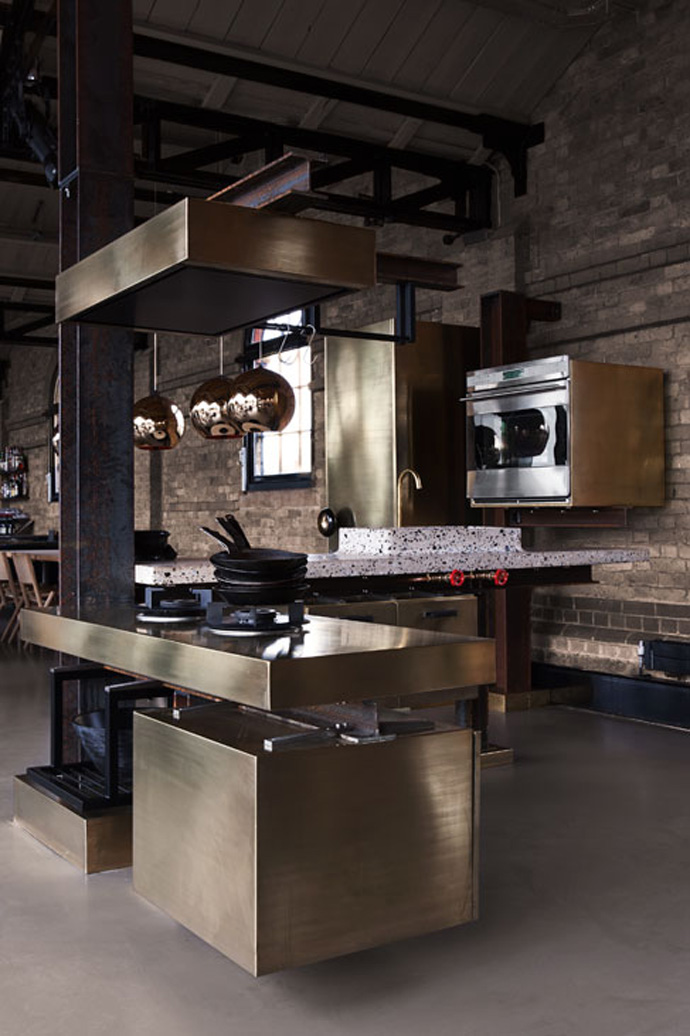 Kitchen With Industrial Look Designed