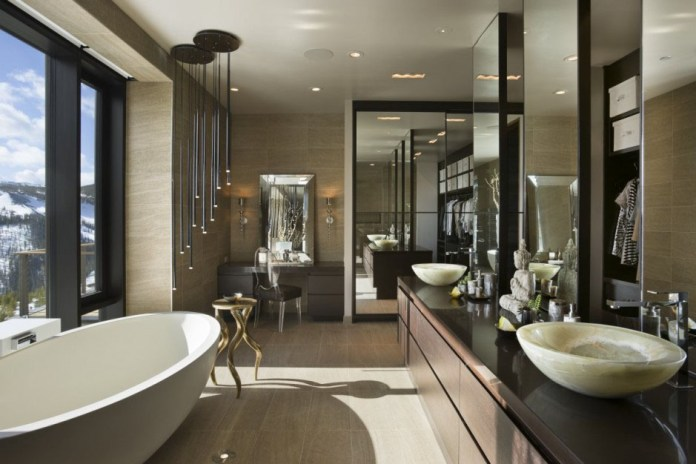 Modern Bathroom Design with a view