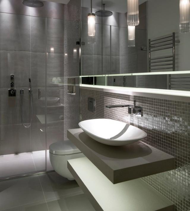 Modern Bathroom Rain Shower Design and vanity
