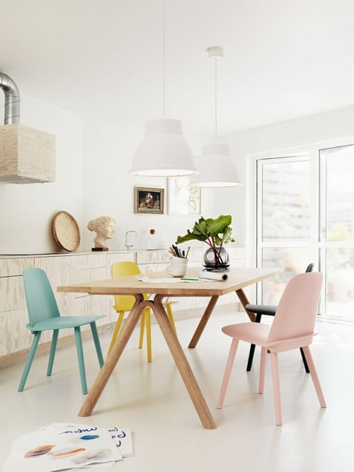 Pastel Scandinavian Dining Room