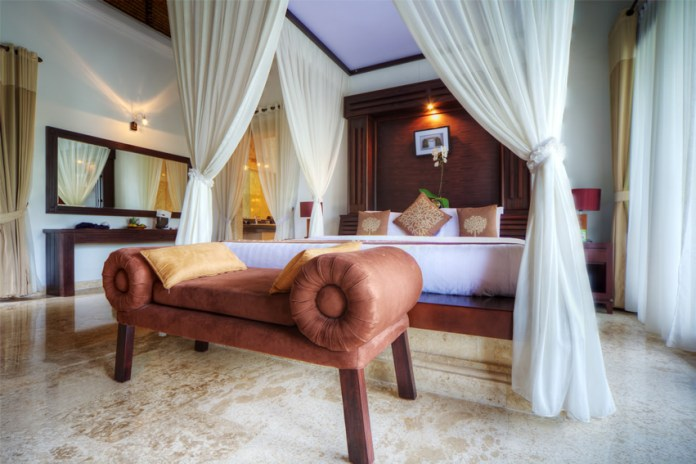 Tropical luxury bedroom