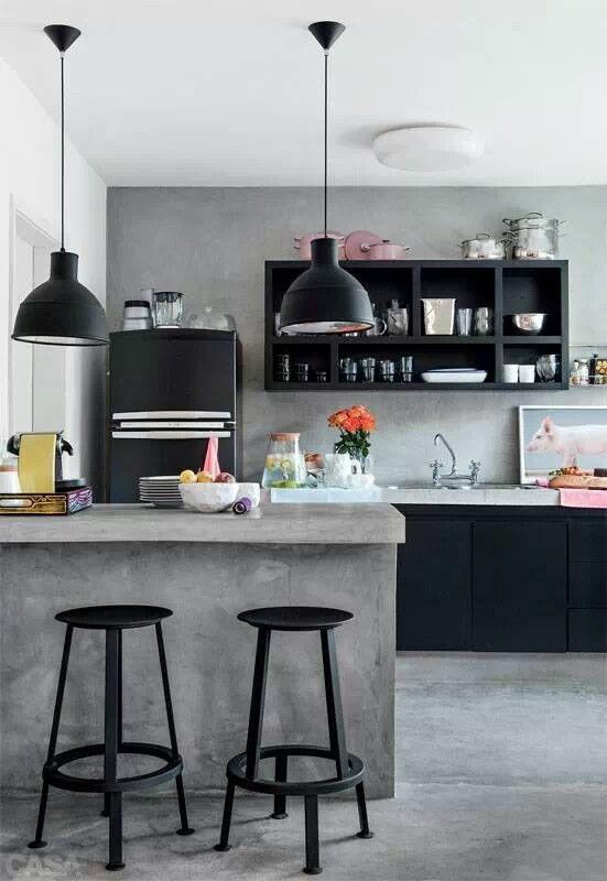 concrete industrial kitchen