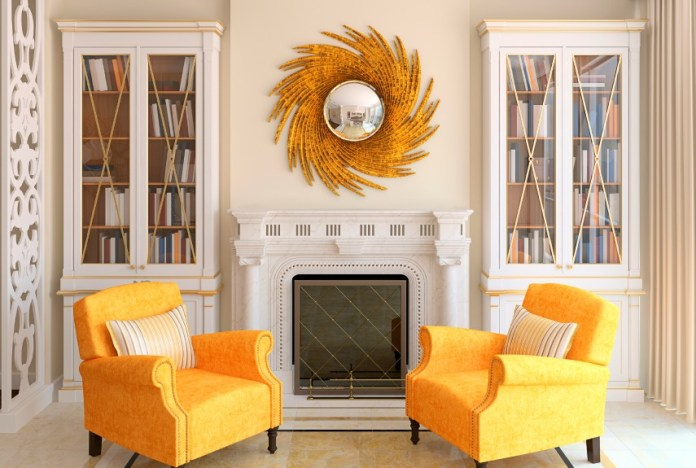 living-room-gold-orange-decor