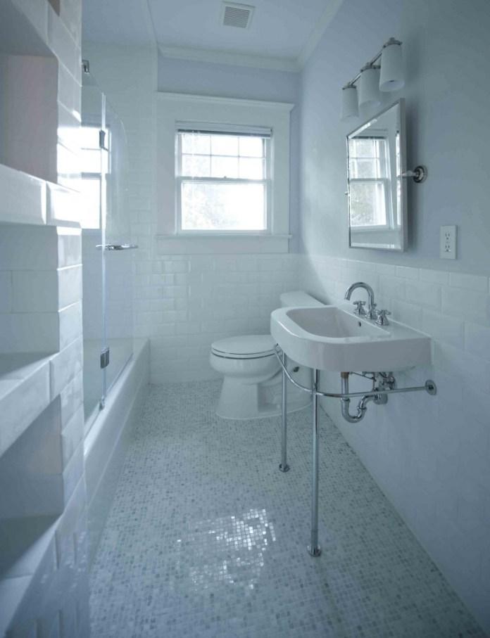 All white craftsman-bathroom