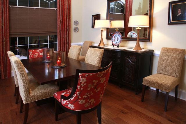 Asian Inspired Home traditional-dining-room