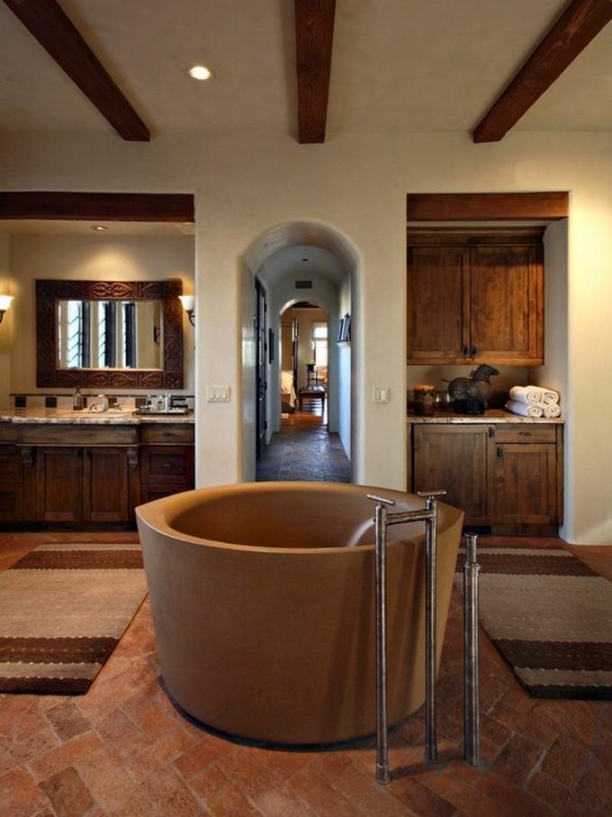 25 Inspirational Mediterranean Bathroom Design Ideas