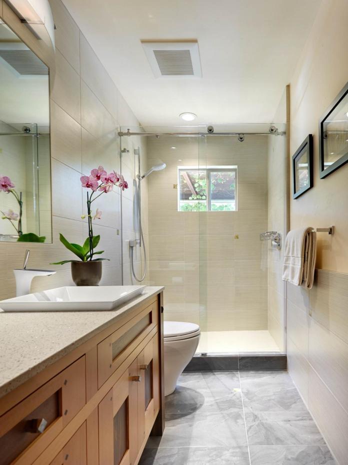 Contemporary Bathroom With Craftsman-Style Vanity