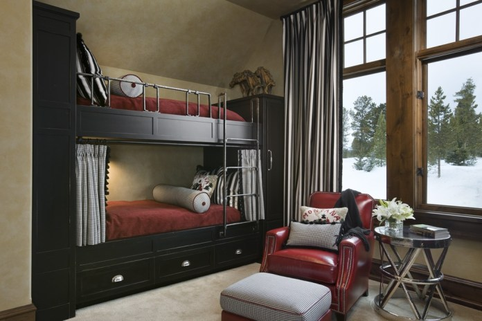 Contemporary Kids Bedroom with Bunk beds