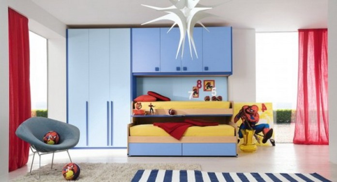 Cool Modern Boys Bedroom with Spidey Theme