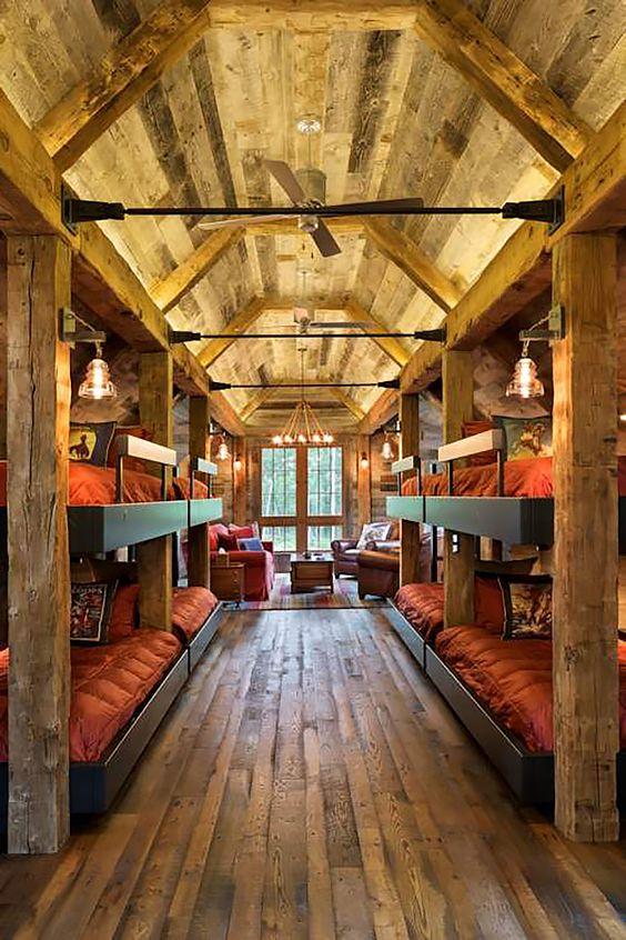 Cozy rustic bunkhouse