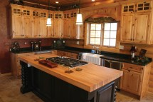 Rustic Knotty Hickory Kitchen Cabinets